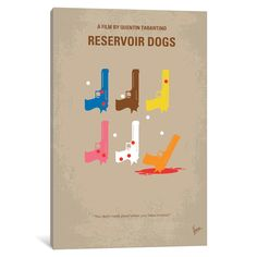 iCanvas Reservoir Dogs Minimal Movie Poster by Chungkong Canvas Print