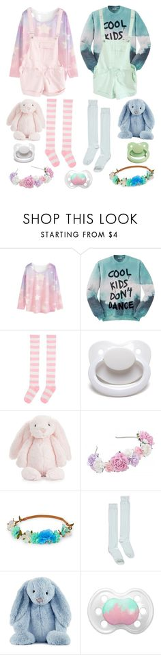"""Pastel Playdate (cglre)"" by transboyfanboy ❤ liked on Polyvore featuring WithChic, Aloha From Deer, Jellycat and Boohoo"