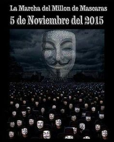 Remember, Remember the 5th of November https://instagram.com/p/9tn9A6DuhY #MillionMaskMarch #AnonIbero