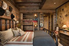 Build bunk beds into a closet space. Rustic Bedroom Locati Architects