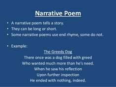 What is a narrative poetry essay?