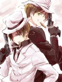 Mafia Veneziano and Romano~! :3