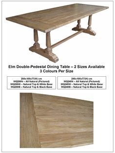 Elm Double-Pedestal Dining Table