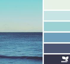 Sea Blues Color Schemescolor Patternscolor Combinationsblue