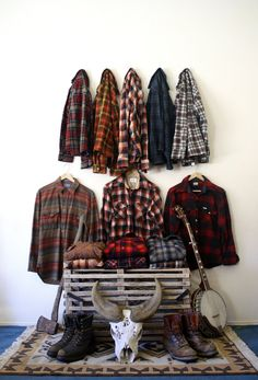 Plaid---Not so much my style, but this is definitely my son's preference. This just might be his wardrobe.