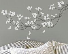 Floral Stencil, alternative headboard idea
