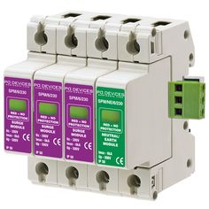 A3SPM/6/230NR - 6kA Three Phase with Neutral/Earth & Remote Connector - Type 2 Test Class II - This modular #surgeprotection #device provides #protection of equipment connected to incoming low voltage AC power supplies against the damaging effects of transient over voltages caused by local #lightning strikes, or the switching of electrical inductive or capacitive loads.