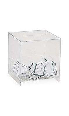 "$18.95 Large Acrylic Ballot Boxes **GREAT idea for ""modern piggy bank""**"