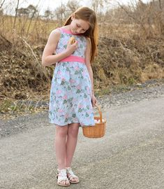 Juniper dress pdf pattern by Sofiona  Designs  in girls sizes 2-14