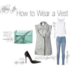 """How to Wear a Vest"" by shopeluxe on Polyvore"