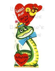 vintage snake valentine - Google Search