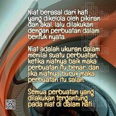 Semua Berasal Dari Niat Islam, Memories, Quotes, Memoirs, Quotations, Souvenirs, Quote, Remember This, Shut Up Quotes
