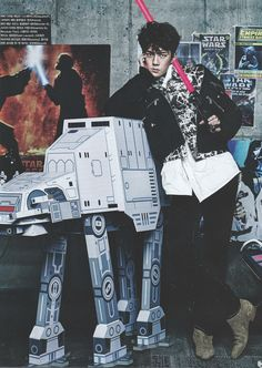 Vogue Korea, December 2015 Issue : EXO x STAR WARS Collaboration - Sehun HE LOOKS SO FIT IN THIS PERFECTION