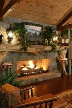 Perfekt Wohnträume, Rustikale Böden, Rustikale Stehlampen, Kaminideen, Kabine  Kamin, Kaminverkleidungen, Kaminsimse, Zukünftiges Haus, Dach Ideen