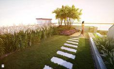 Trawnik na dachu - Ogród - Styl Nowoczesny - EMSIDE Architektura Krajobrazu