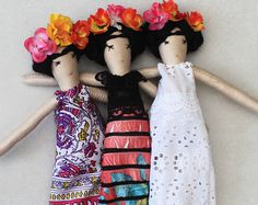 FRIDA KAHLO soft doll Mexican art doll for collectors by missJoyka