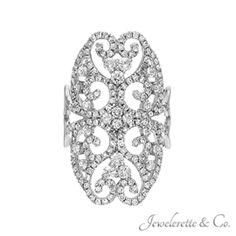 "Diamond ""Xena Warrior Princess Shield"" Fashion Ring."