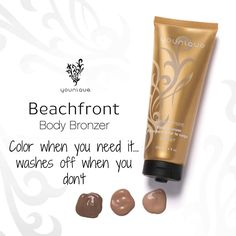 Have an event and no time for a tan? Younique's Beachfront Body Bronzer gives you instant color that washes off at the end of the day. Choose from 3 glowing shades. Get yours at www.happygirllashes.com