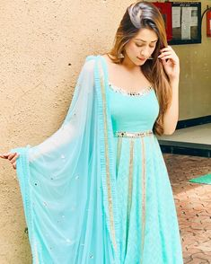 Image may contain: one or more people and people standing Dress Indian Style, Indian Dresses, Indian Outfits, Kids Party Wear Dresses, Hiba Nawab, Teenage Girl Photography, Lovely Girl Image, Embroidery Suits Design, Bridal Lehenga Choli