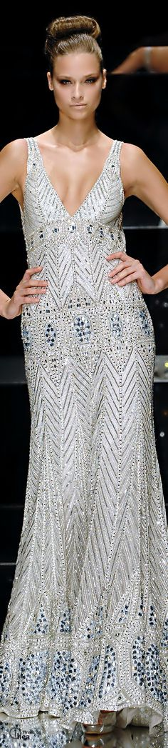 Elie Saab ● Beaded Evening Gown