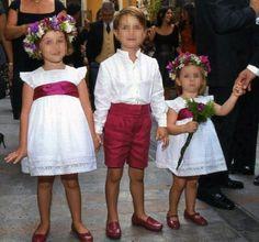 niños de arras niñas de arras y pajes y niños del cortejo nupcial