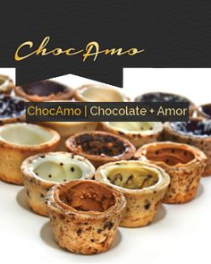 Chocamo | Chocolate + Amor had these last night filled with Bailey's  and crushed peppermint