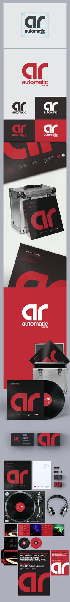 Automatic Records Brand Refresh by Alex Townsend, via Behance