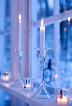 glass candle light in windows Christmas Candles, Blue Christmas, Christmas Time, Christmas Decorations, Candle Lanterns, Glass Candle, Beautiful Candles, Winter Wonder, Twinkle Lights