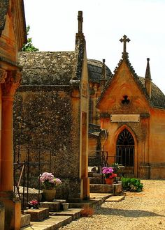 Beautiful village cemetery in France