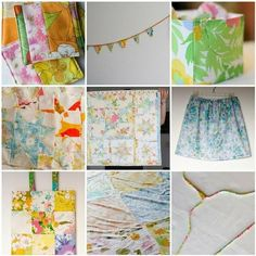 Things to sew - vintage sheet projects