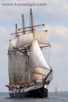 "Tall Ship ""Fridtjof Nansen"" at Hanse Sail Rostock"