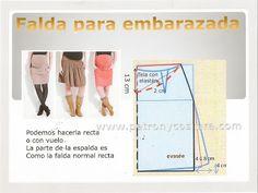 Patrón y costura : falda de embarazada. Tema 128 diy