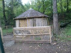 Hut in bamboo sticks
