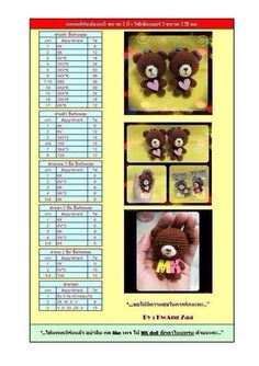 Gấu Kawaii Crochet, Crochet Bear, Diy Crochet, Crochet Crafts, Amigurumi Tutorial, Crochet Patterns Amigurumi, Amigurumi Doll, Crochet Dolls, Cute Little Things