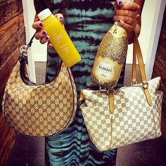 We LOVE #MimosaSundays at #MoshPosh #LouisVuitton #Gucci #Champagne