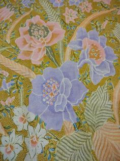 Batik sarong origin Pekalongan,north Java region,type buketan flower,this peranakan sarong sign ,year of making 1940~1950,it's a typical peranakan sarong with delicated flower and hand work,color soft pastel.The softnes of the color represent the beauty and gentile who ever wearing it.