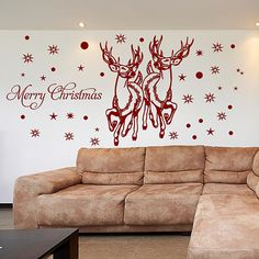 Details about santa reindeer wall stickers christmas window stickers Christmas Window Stickers, Creative Kids Snacks, Santa And Reindeer, Shop Window Displays, Sticker Shop, Wall Stickers, Christmas Decorations, Xmas, Layout