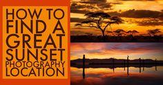 Как найти большое фотосъемку на закате