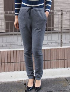 Jogger Pants | Another cool Japanese sewing pattern. Learn to sew them at www.japanesesewingpatterns.com