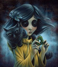 """Coraline"" Art Illustration By Shannon Bonatakis ""If She Loses"" Art Tim Burton, Tim Burton Kunst, Estilo Tim Burton, Tim Burton Style, Tim Burton Drawings Style, Tim Burton Artwork, Tim Burton Films, Coraline Jones, Coraline Art"