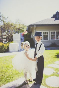 IN LOVE with this ring bearer and flower girl! Ethan & gemma