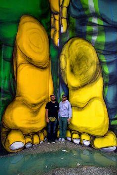 #Street #Art - Vancouver Silos by OS Gémeos, Vancouver Biennal