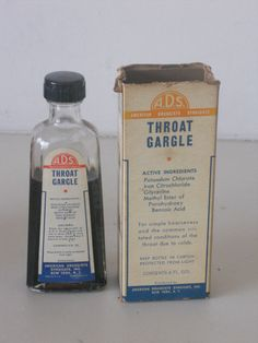Throat Gargle - A.D.S. (American Druggists Syndicate) New York NY