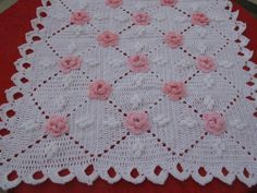 Crochet baby blanket or moses Baby Girl Crochet Blanket, Crochet Baby Booties, Crochet Blanket Patterns, Crochet Quilt, Crochet Fox, Diy Crafts Crochet, Baby Knitting, Blankets, Google