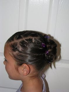Mini Braids Into Messy Bun » HairStylesByMommy.com   HairStylesByMommy.com