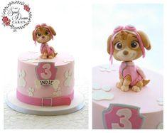 Paw Patrol Torte, Skye Paw Patrol Cake, Sky Paw Patrol, Girls Paw Patrol Cake, Paw Patrol Birthday Girl, 4th Birthday Cakes, 3rd Birthday Parties, Girl Birthday, Bolo Laura