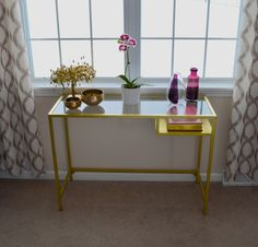 DIY Console Table! Turn Ikea's VITTSJÖ Laptop table into this!