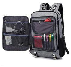 USB School Laptop Backpack