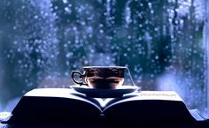 Hot cup of tea and a good book. Perfect way to spend a rainy day