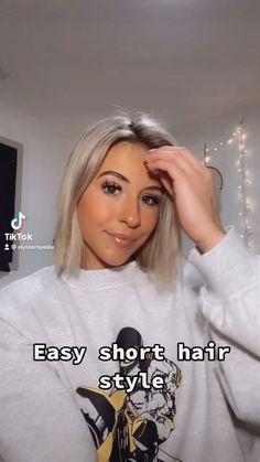 Easy short hair style